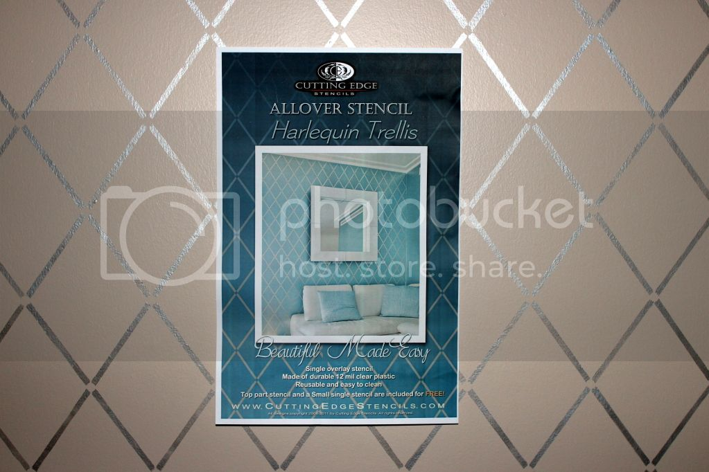 Cutting Edge Stencil - Harlequin Trellis Allover Stencil