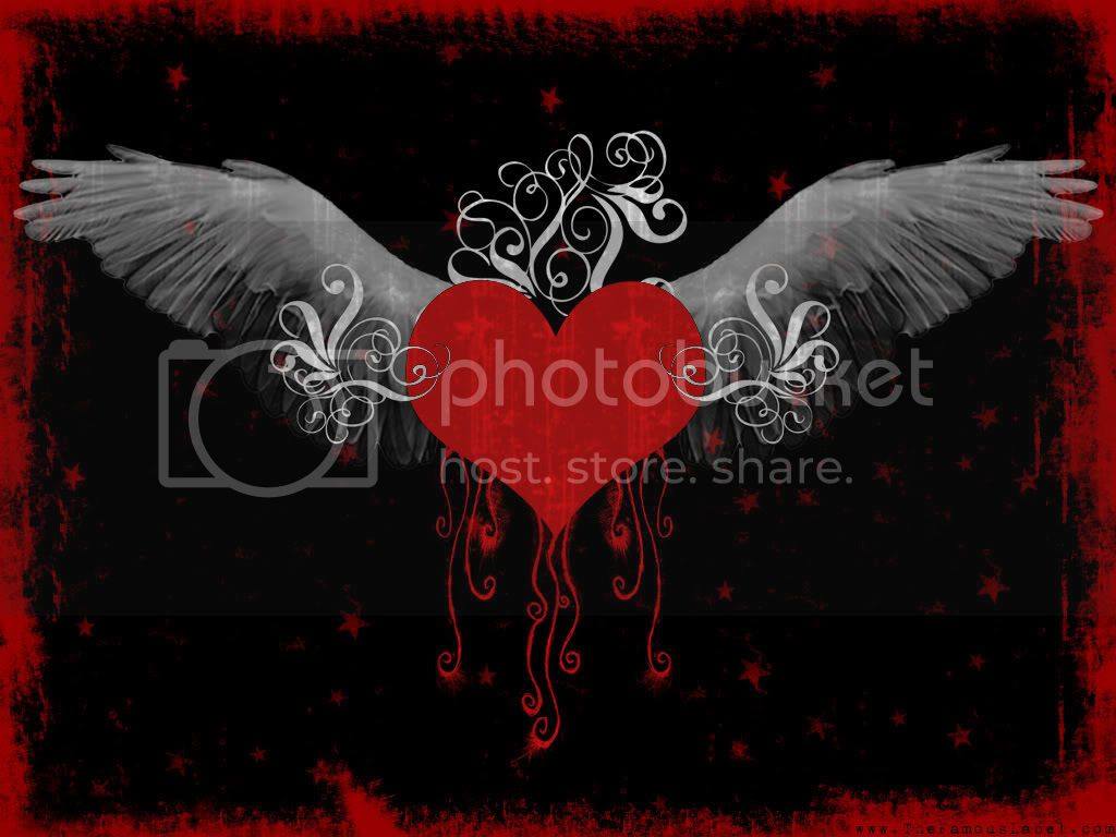 Broken Heart with wings Image
